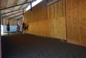 Indoor riding shed